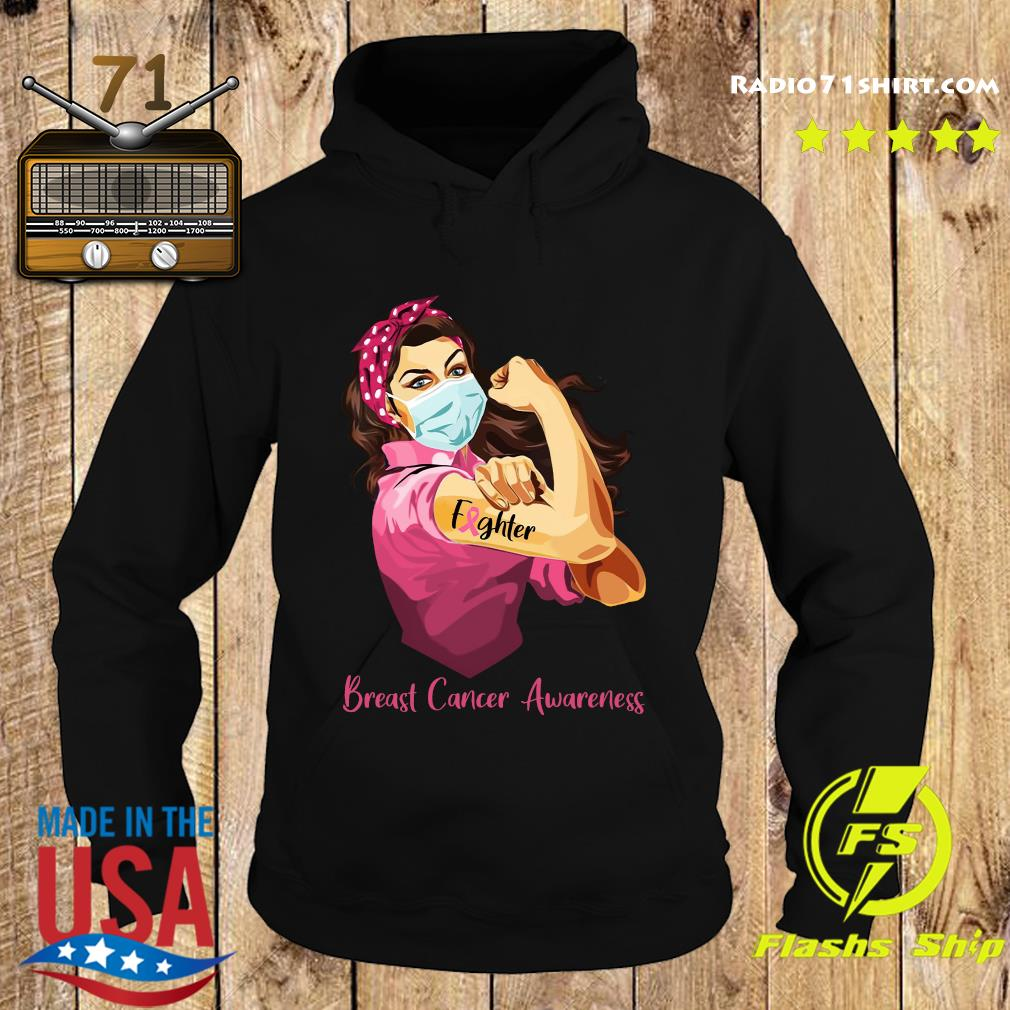 Strong Woman Tattoo Fighter Breast Cancer Awareness Shirt Hoodie
