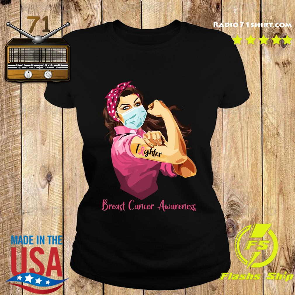 Strong Woman Tattoo Fighter Breast Cancer Awareness Shirt Ladies tee
