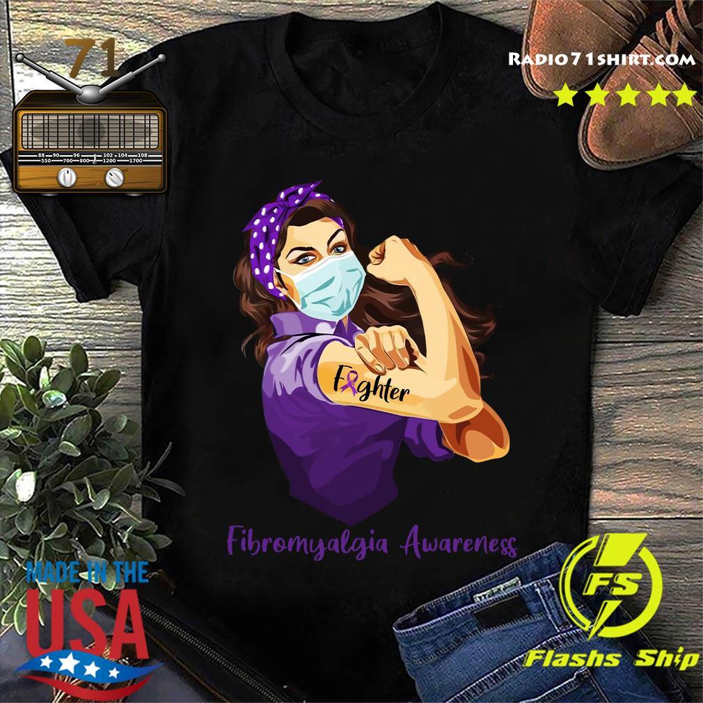 Strong Woman Tattoo Fighter Fibromyalgia Awareness Shirt