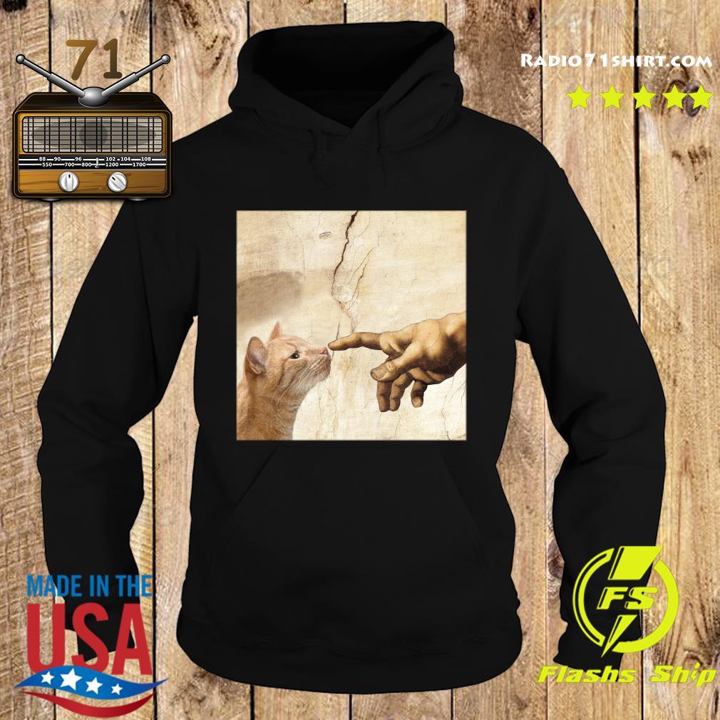 The Creation Of Adam Brown Cat Shirt Hoodie