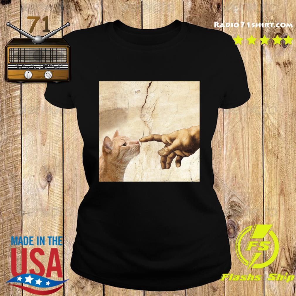 The Creation Of Adam Brown Cat Shirt Ladies tee