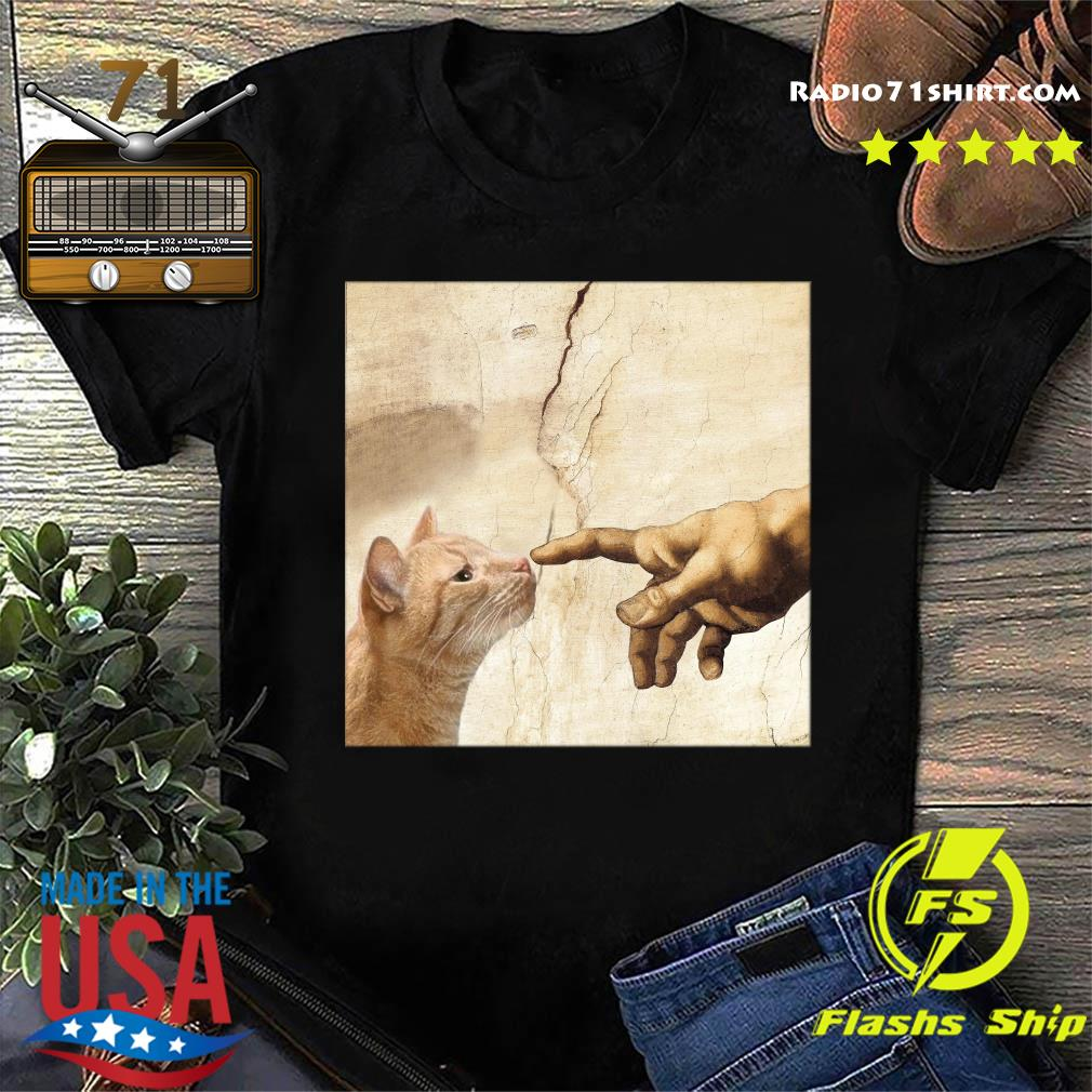 The Creation Of Adam Brown Cat Shirt