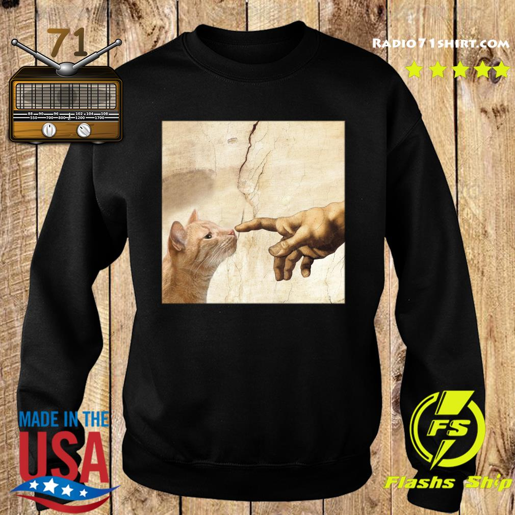 The Creation Of Adam Brown Cat Shirt Sweater