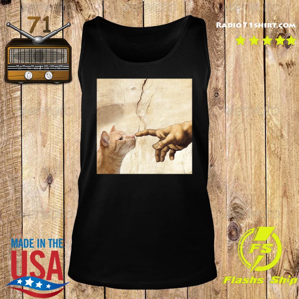 The Creation Of Adam Brown Cat Shirt Tank top