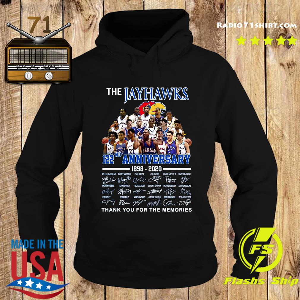 The Jayhawks 122nd Anniversary 1898 2020 Thank You For The Memories Signatures Shirt Hoodie