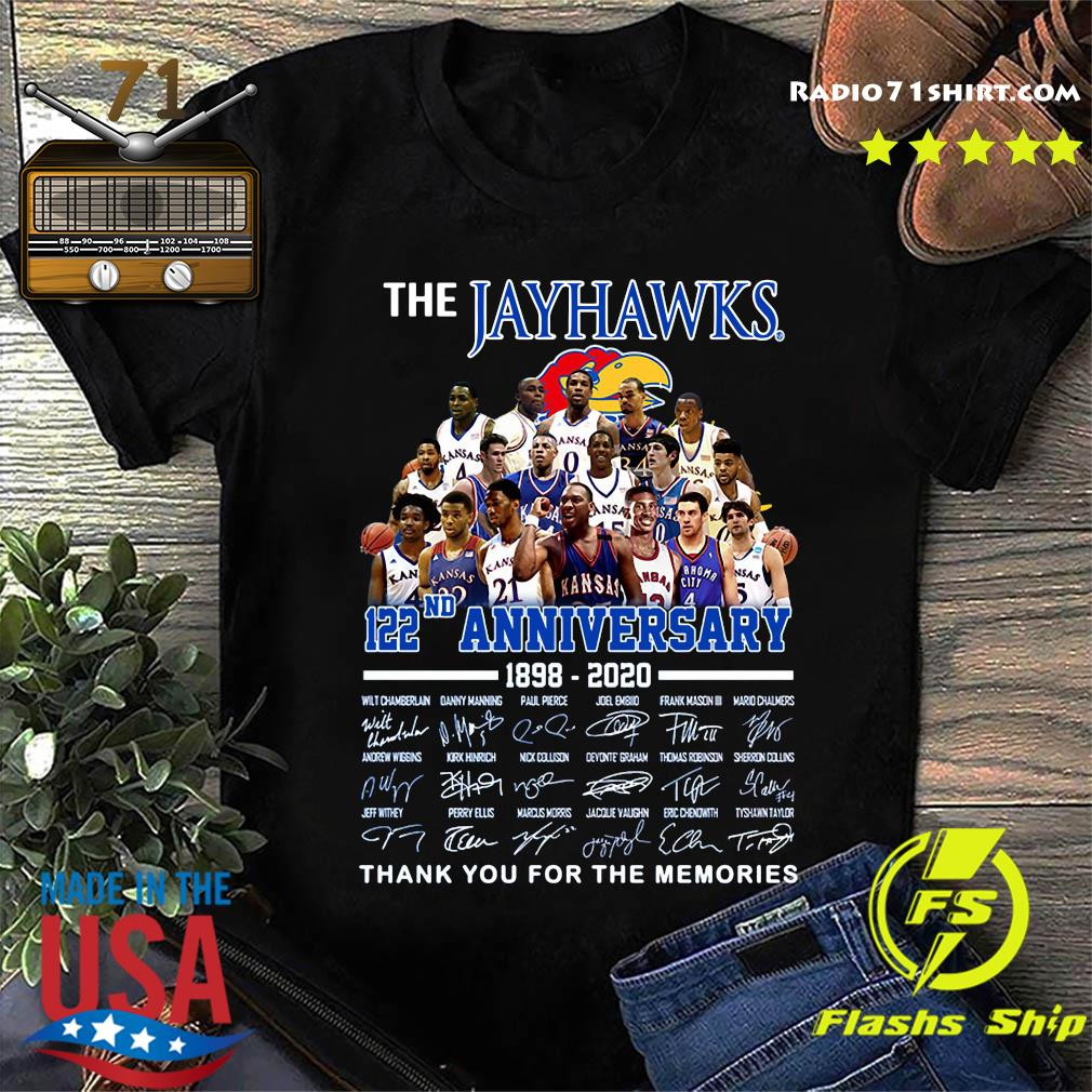 The Jayhawks 122nd Anniversary 1898 2020 Thank You For The Memories Signatures Shirt