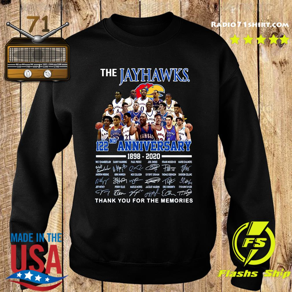 The Jayhawks 122nd Anniversary 1898 2020 Thank You For The Memories Signatures Shirt Sweater