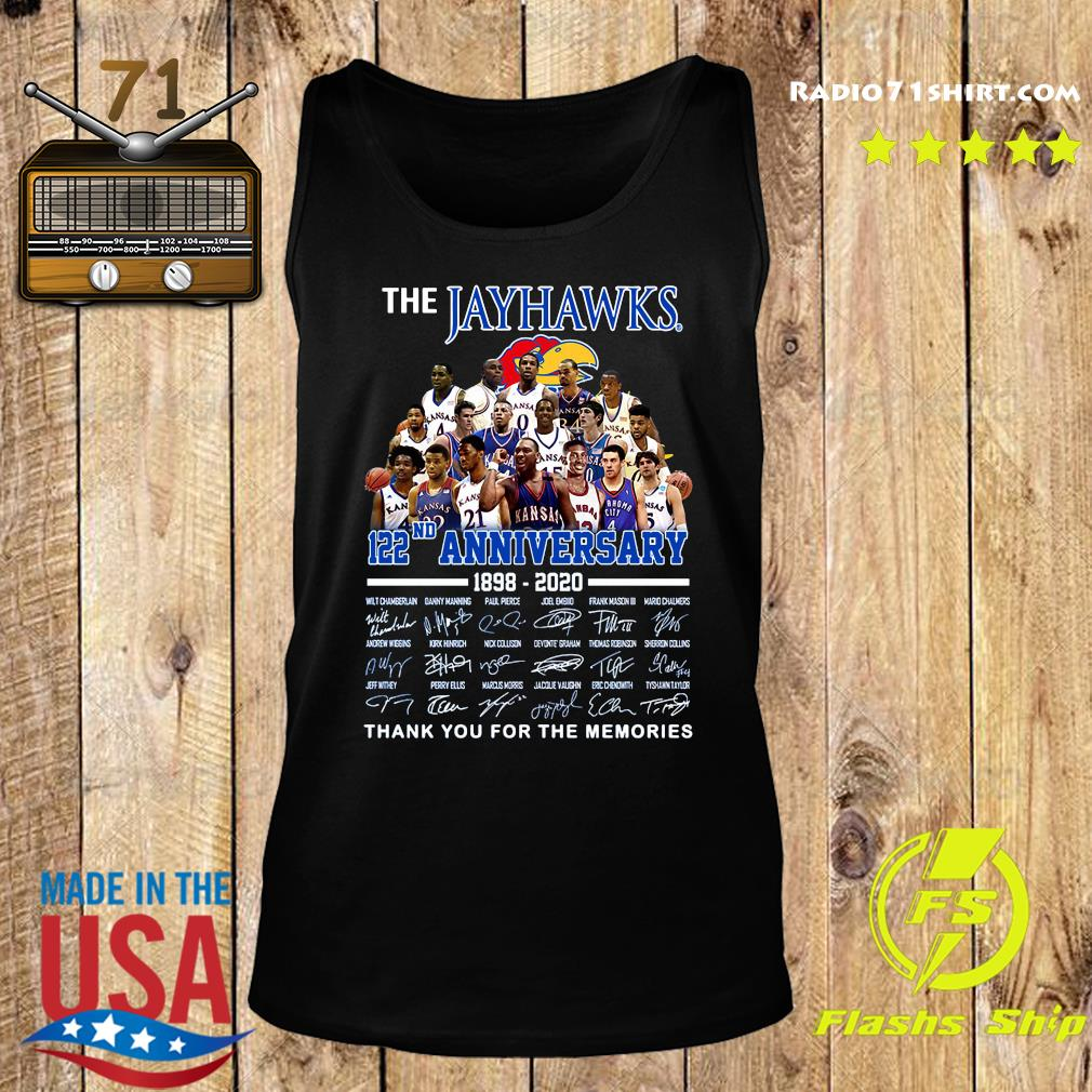 The Jayhawks 122nd Anniversary 1898 2020 Thank You For The Memories Signatures Shirt Tank top