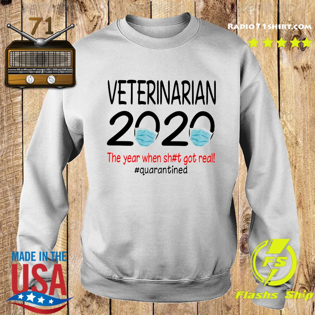 Veterinarian 2020 The Year When Shit Got Real Quarantined Shirt Sweater