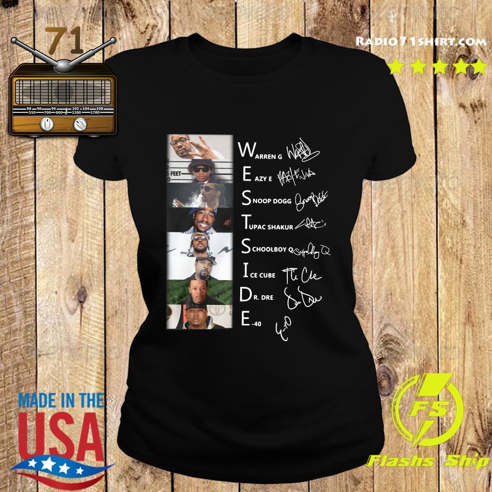 Westside Connection Hip Hop Super Band Signature Members Shirt Ladies tee
