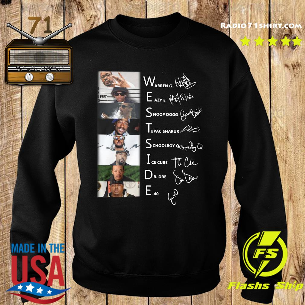 Westside Connection Hip Hop Super Band Signature Members Shirt Sweater
