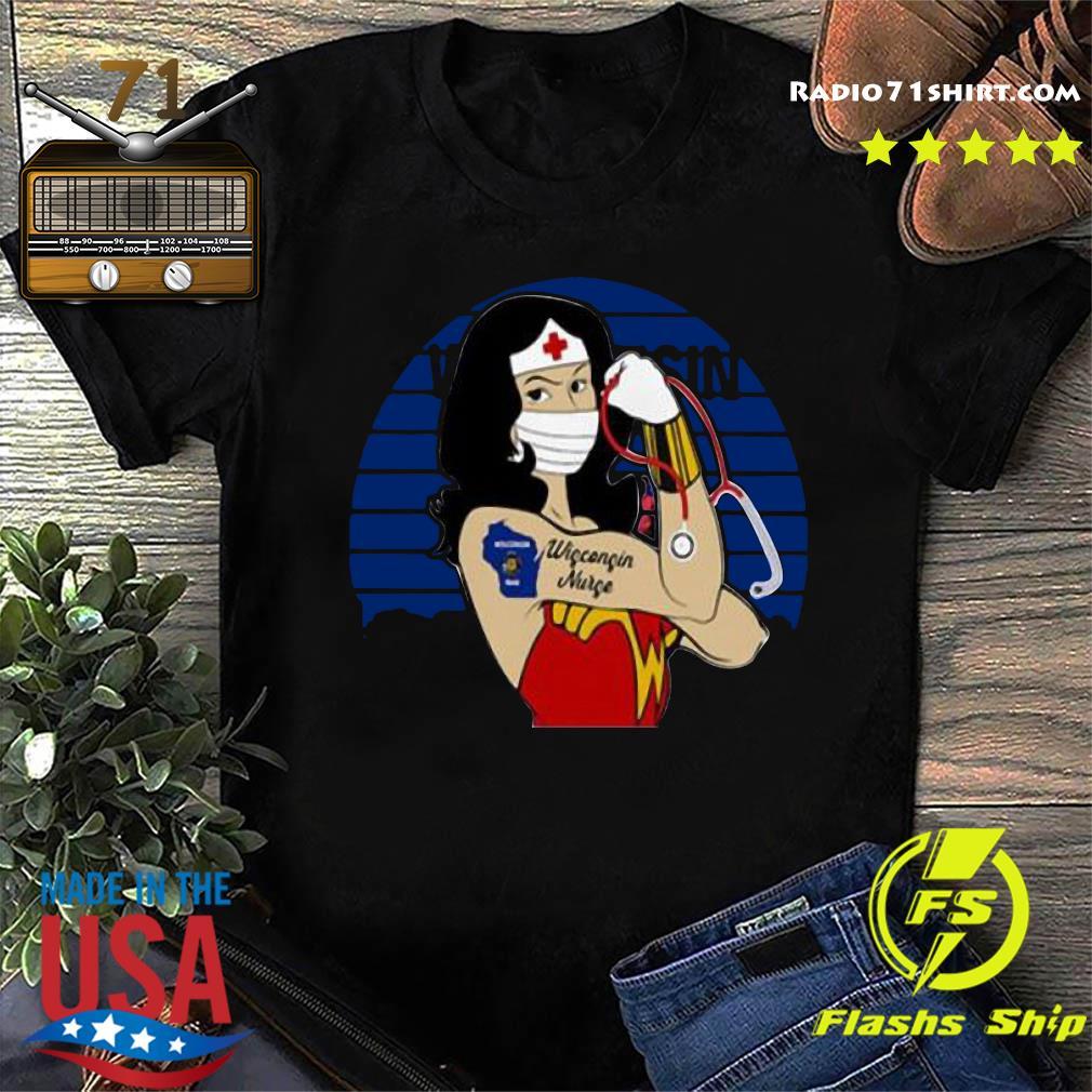 Wonder Woman Tattoos Wisconsin Nurse Covid 19 Vintage Shirt