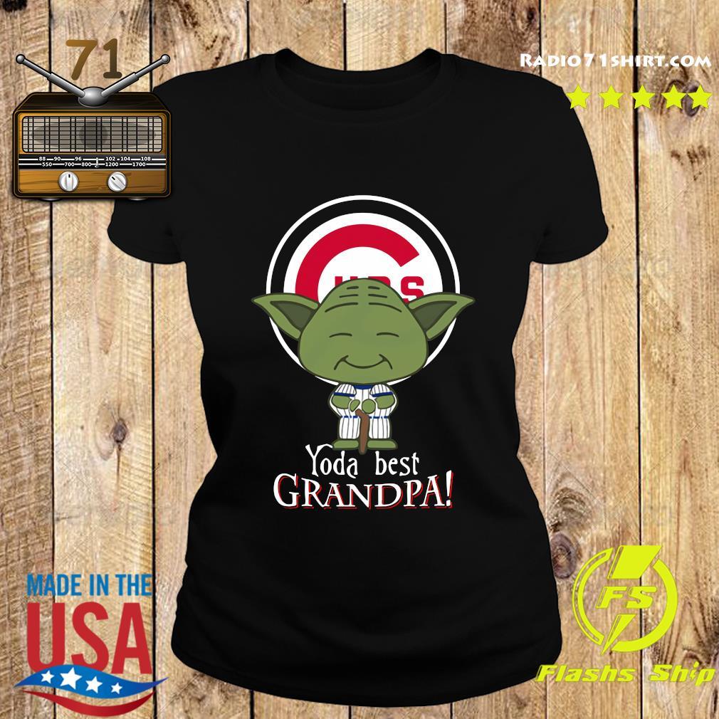 Yoda Best Grandpa Cubs Shirt Ladies tee