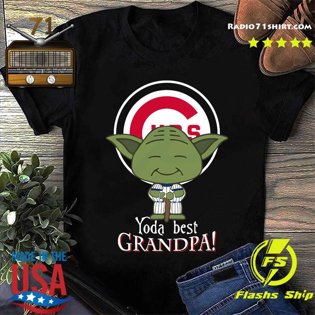 Yoda Best Grandpa Cubs Shirt