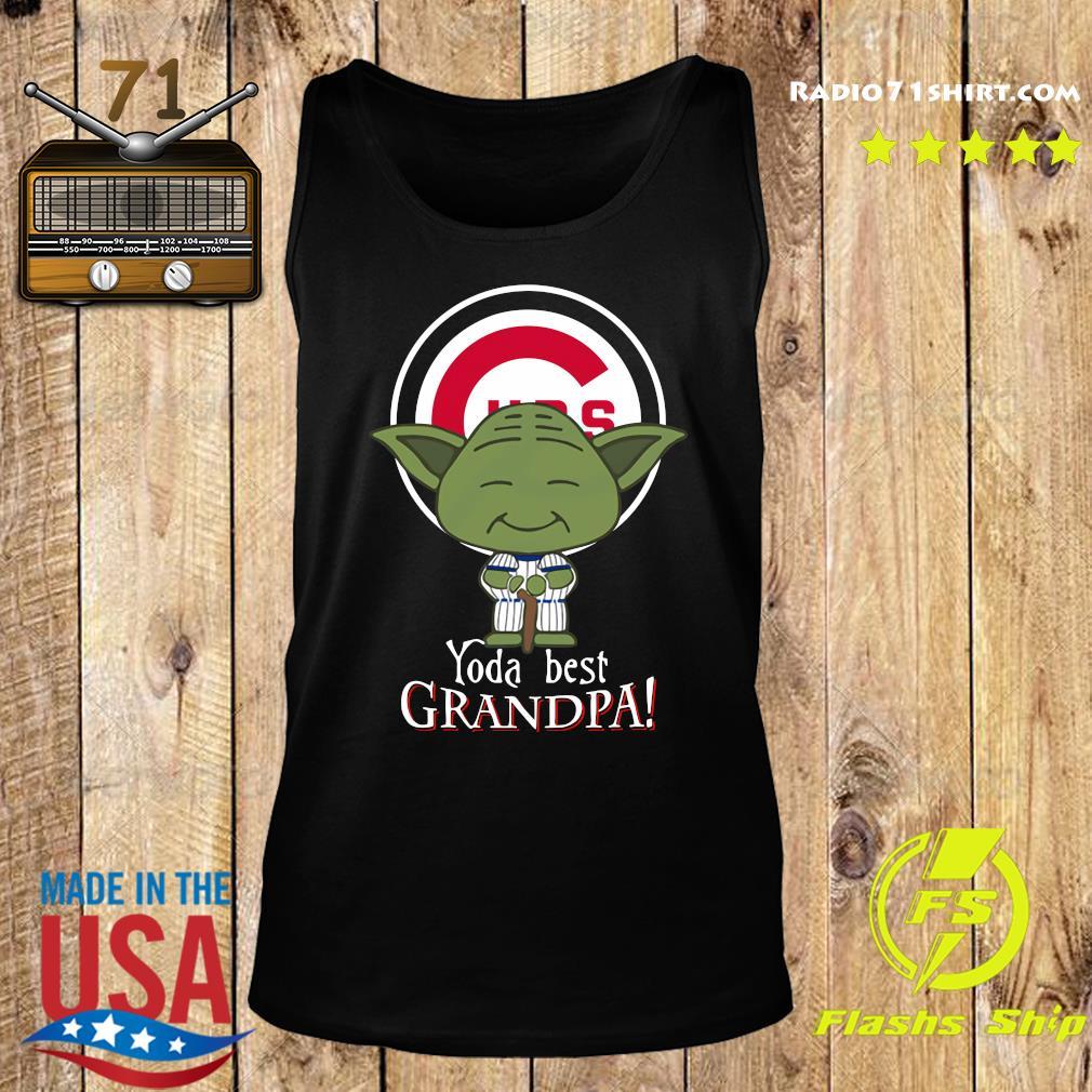 Yoda Best Grandpa Cubs Shirt Tank top