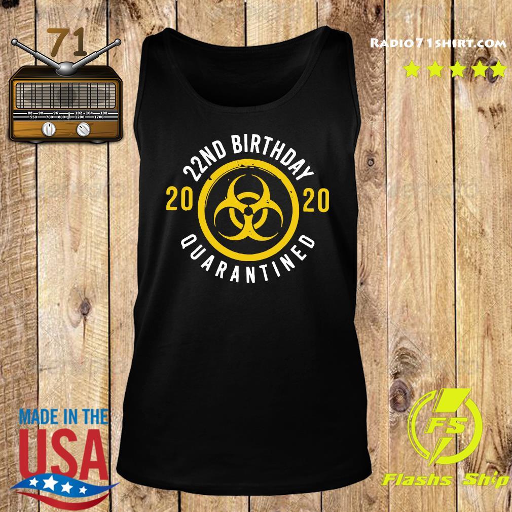 22nd Birthday 2020 Quarantined Shirt Tank top