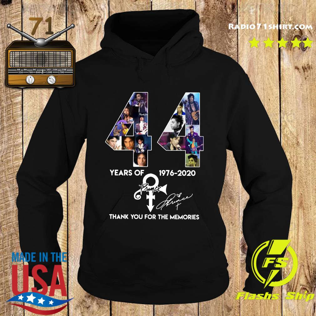 44 Year Of 1976 2020 Prince Thank You For The Memories Signature Shirt Hoodie
