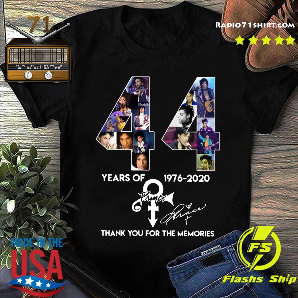 44 Year Of 1976 2020 Prince Thank You For The Memories Signature Shirt