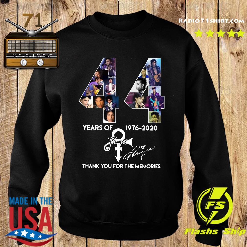 44 Year Of 1976 2020 Prince Thank You For The Memories Signature Shirt Sweater