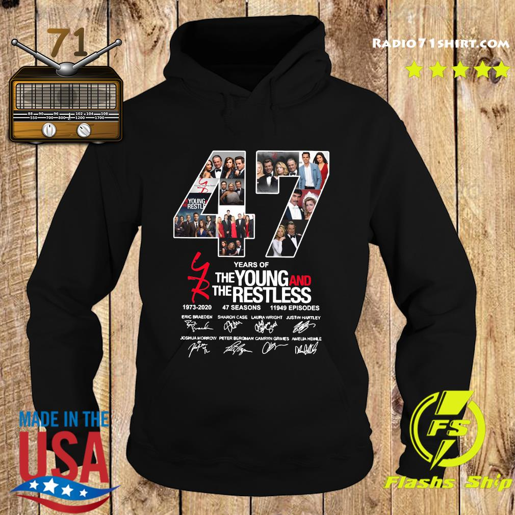 47 Years Of The Young And The Restless 1973 2020 47 Seasons 11949 Episodes Signatures Shirt Hoodie