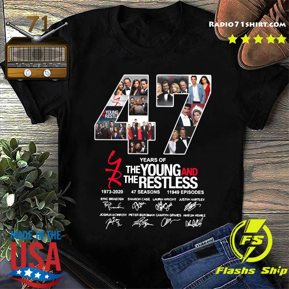 47 Years Of The Young And The Restless 1973 2020 47 Seasons 11949 Episodes Signatures Shirt