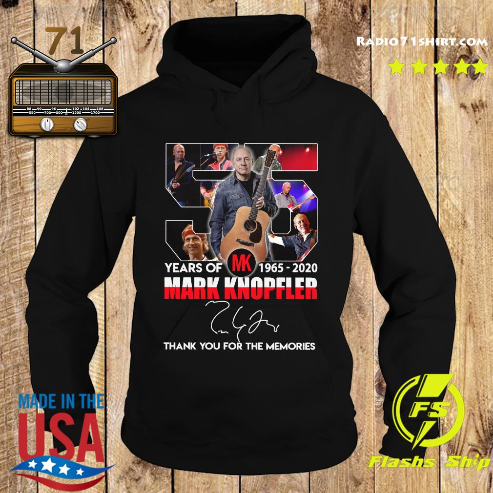 55 Years Of Mk 1965 2020 Mark Knopfler Thank You For The Memories Signature Shirt Hoodie