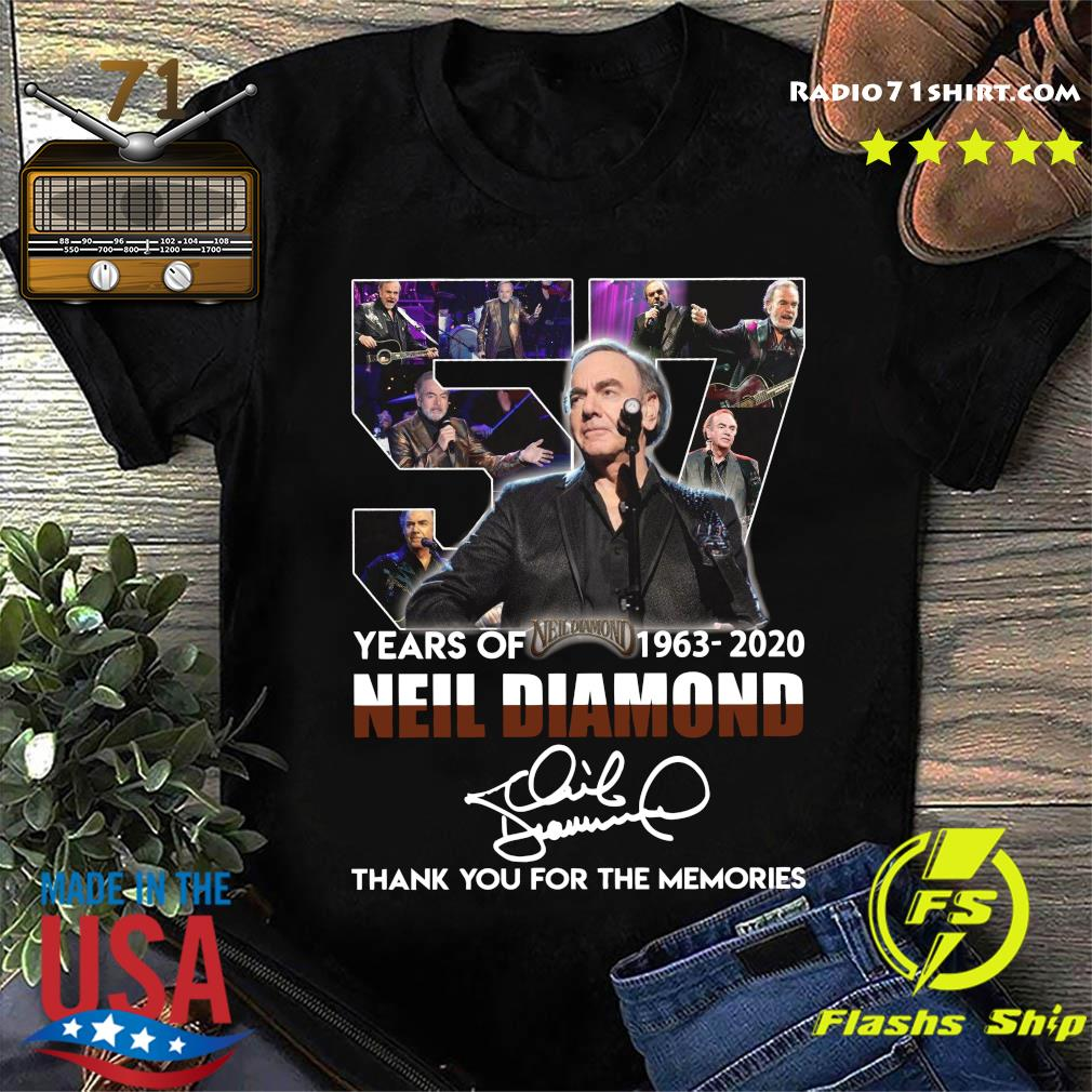 57 Years Of Neil Diamond 1963 2020 Thank You For The Memories Signature Shirt