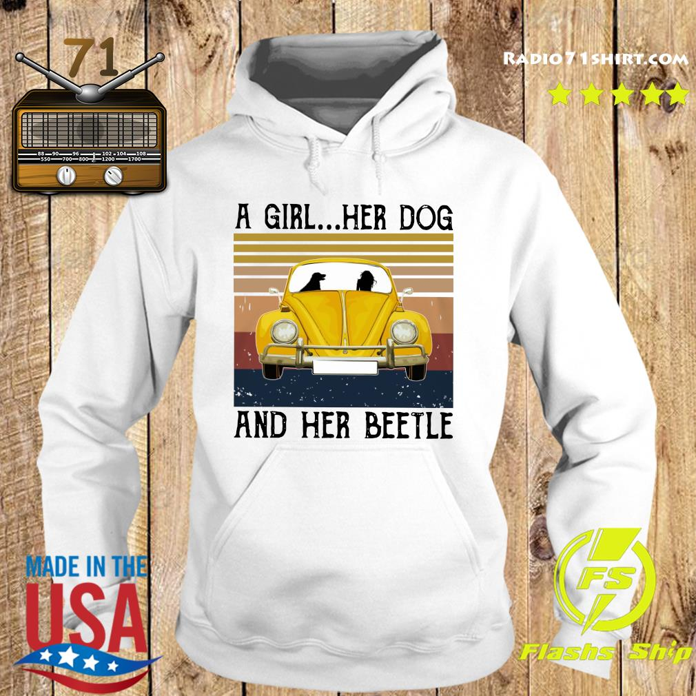 A Girl Her Dog And Her Volkswagen Beetle Vintage Shirt Hoodie
