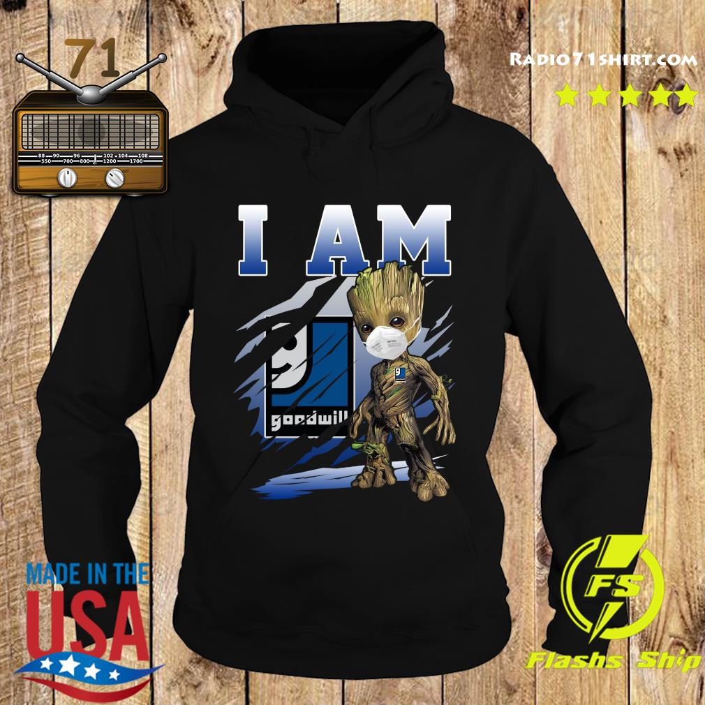 Baby Groot Face Mask I Am Goodwill Shirt Hoodie