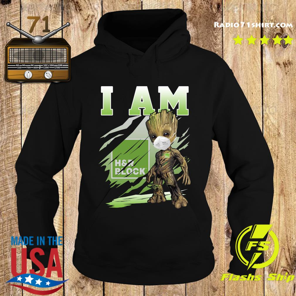 Baby Groot Face Mask I Am H'r Block Shirt Hoodie