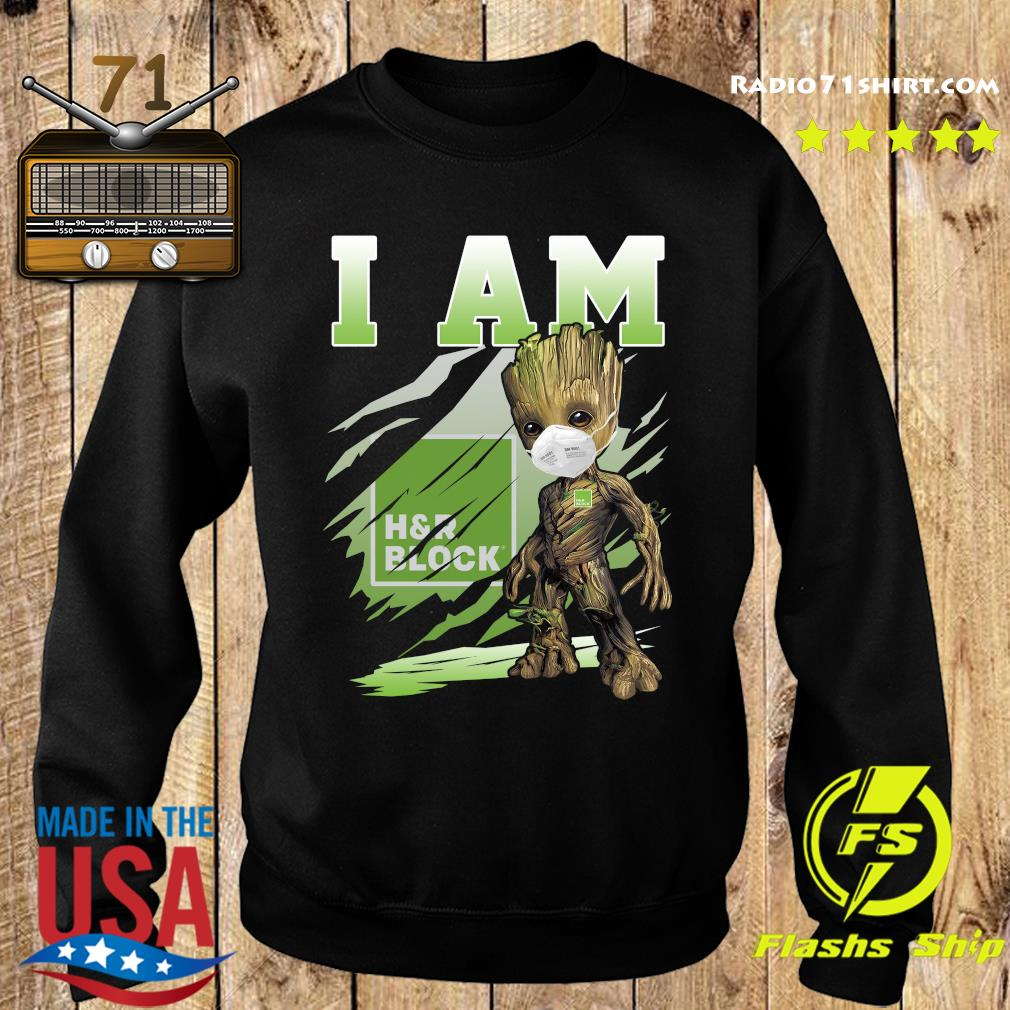 Baby Groot Face Mask I Am H'r Block Shirt Sweater