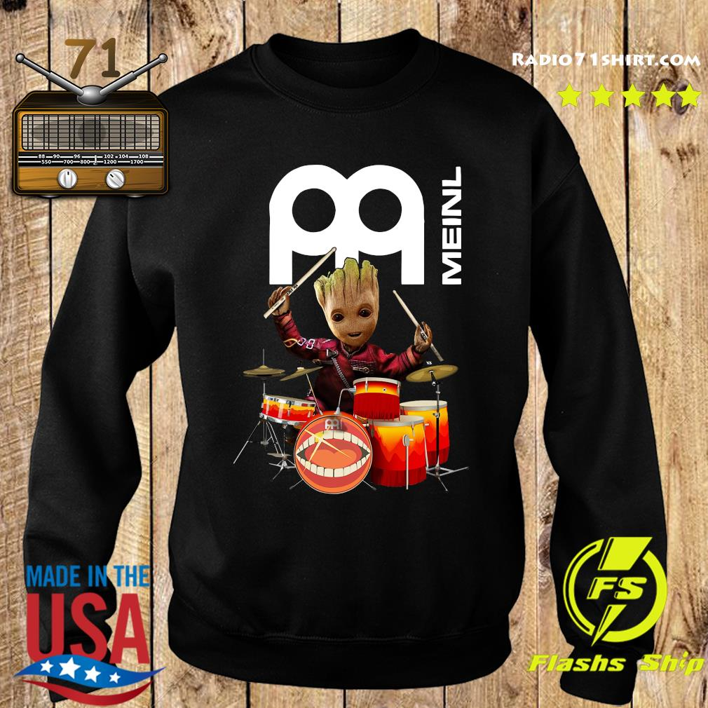 Baby Groot Show Animal Playing Drum Meinl Percussion Shirt Sweater