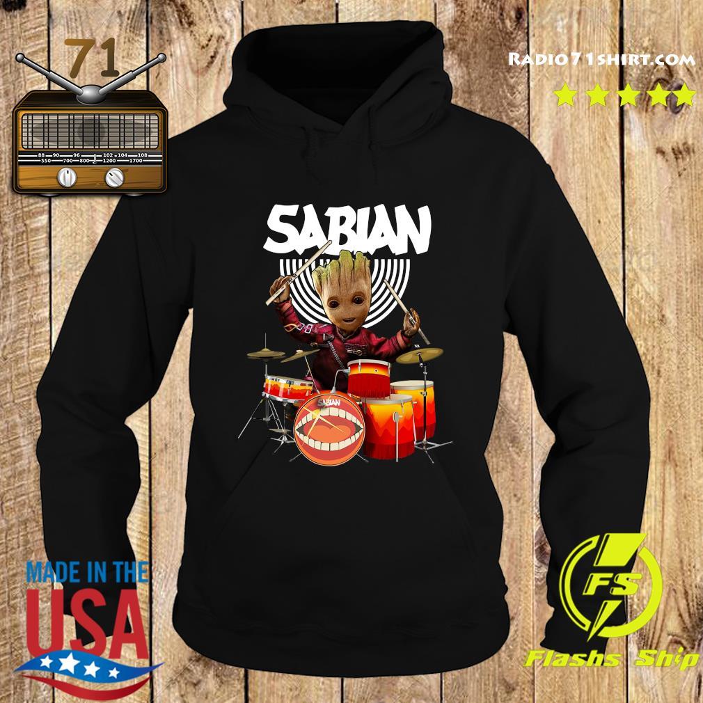 Baby Groot Show Animal Playing Sabian Drums Shirt Hoodie