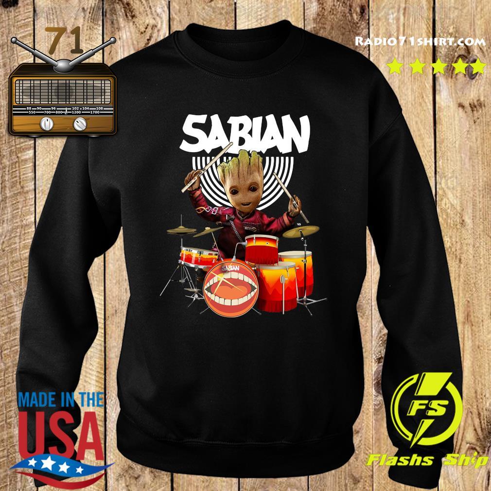 Baby Groot Show Animal Playing Sabian Drums Shirt Sweater