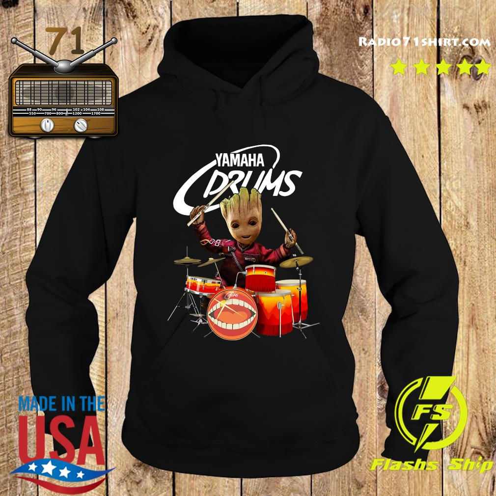 Baby Groot Show Animal Yamaha Drums Shirt Hoodie