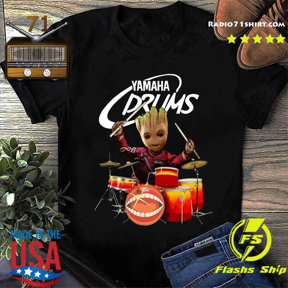 Baby Groot Show Animal Yamaha Drums Shirt