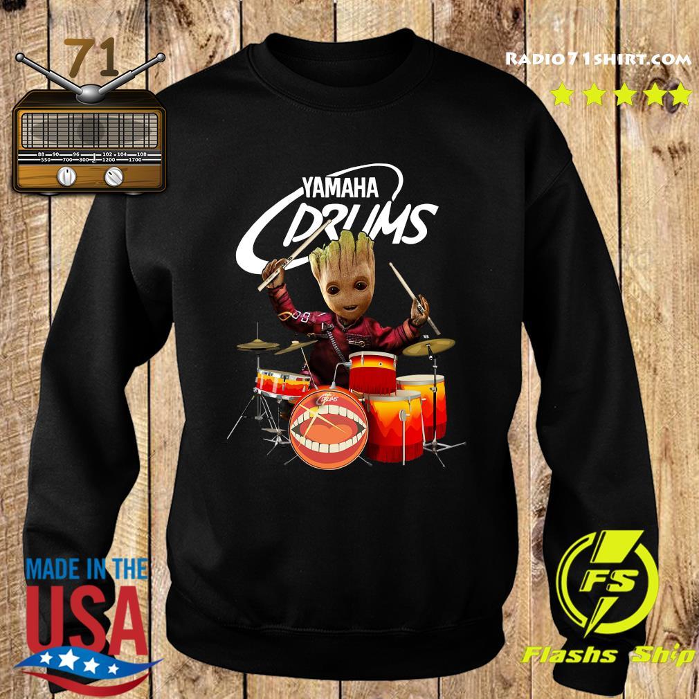 Baby Groot Show Animal Yamaha Drums Shirt Sweater