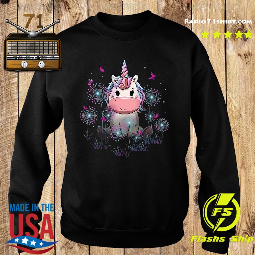 Baby Unicorn Dandelion Flowers Shirt Sweater