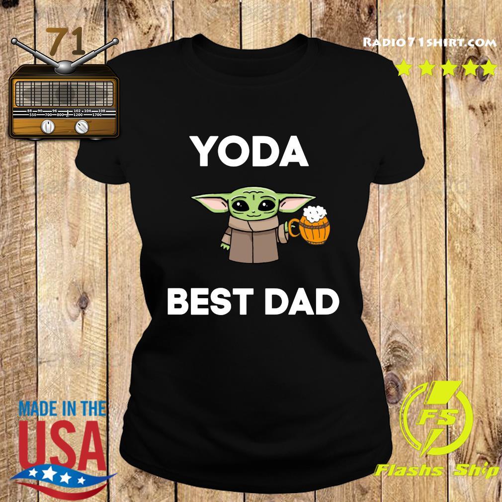 Baby Yoda Best Dad Shirt Ladies tee