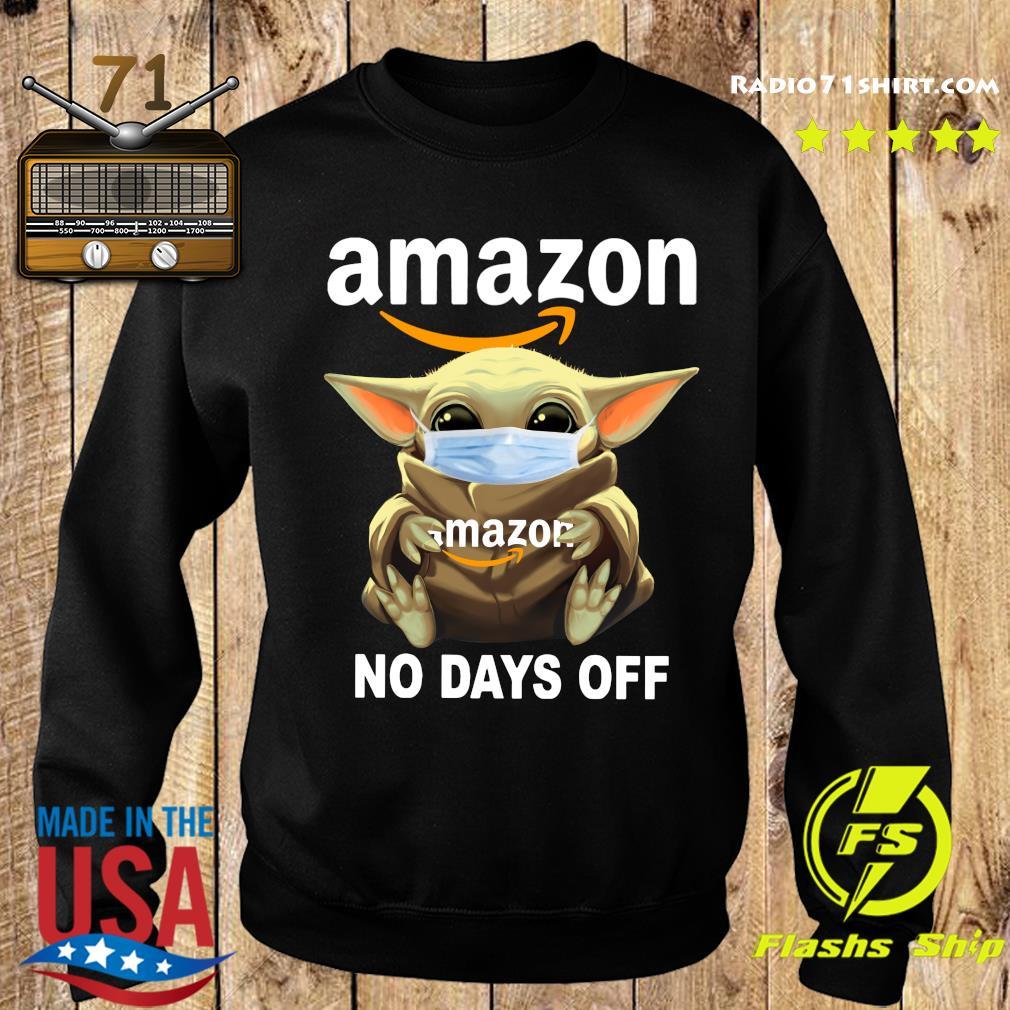 Baby Yoda Face Mask Hug Amazon No Days Off Shirt Sweater