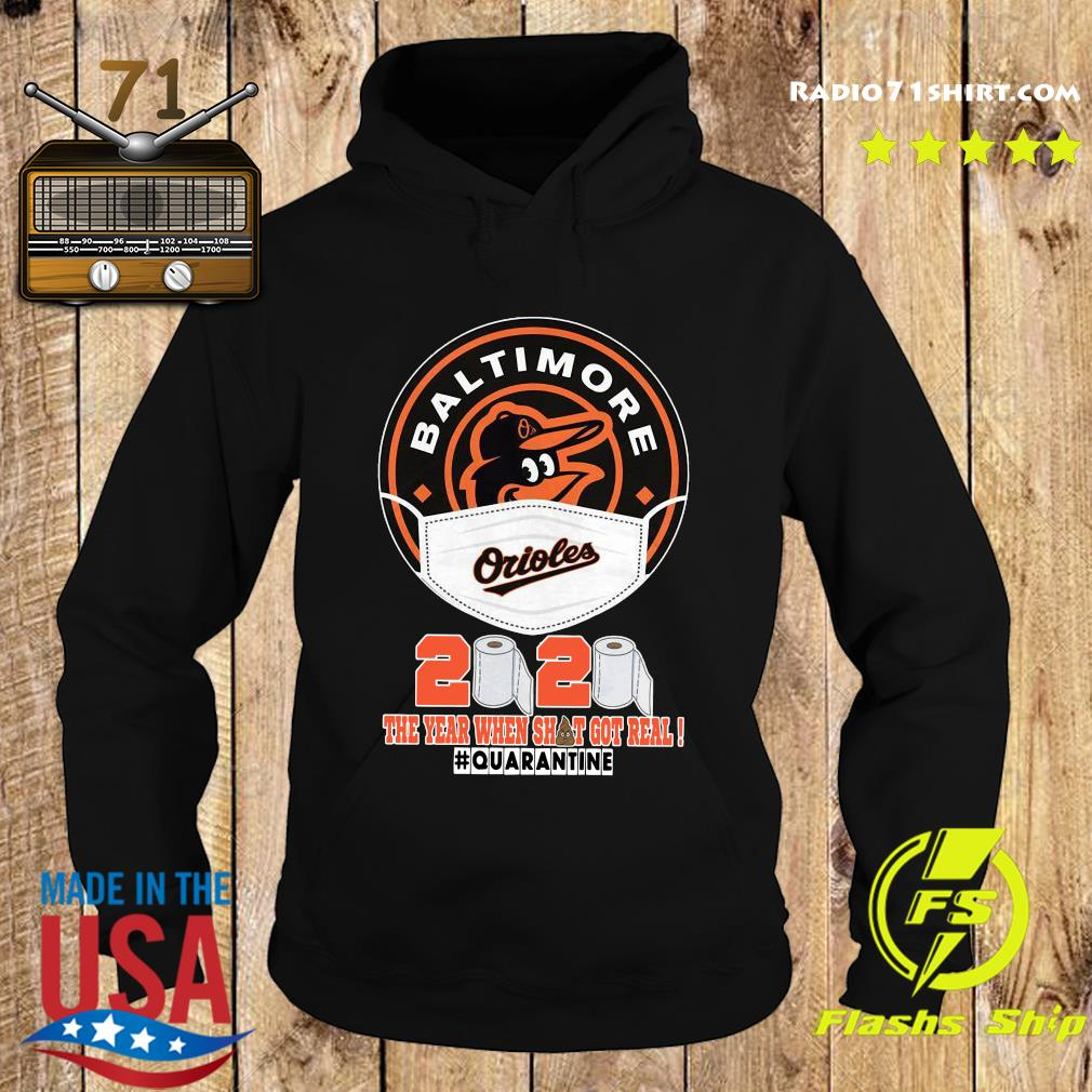 Baltimore Orioles Face Mask 2020 The Year When Shit Got Real Quarantine Shirt Hoodie