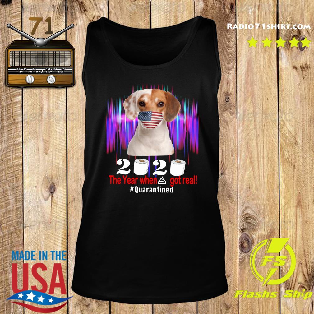 Beagle American Flag Face Mask 2020 The Year When Shit Got Real Quarantined Shirt Tank top