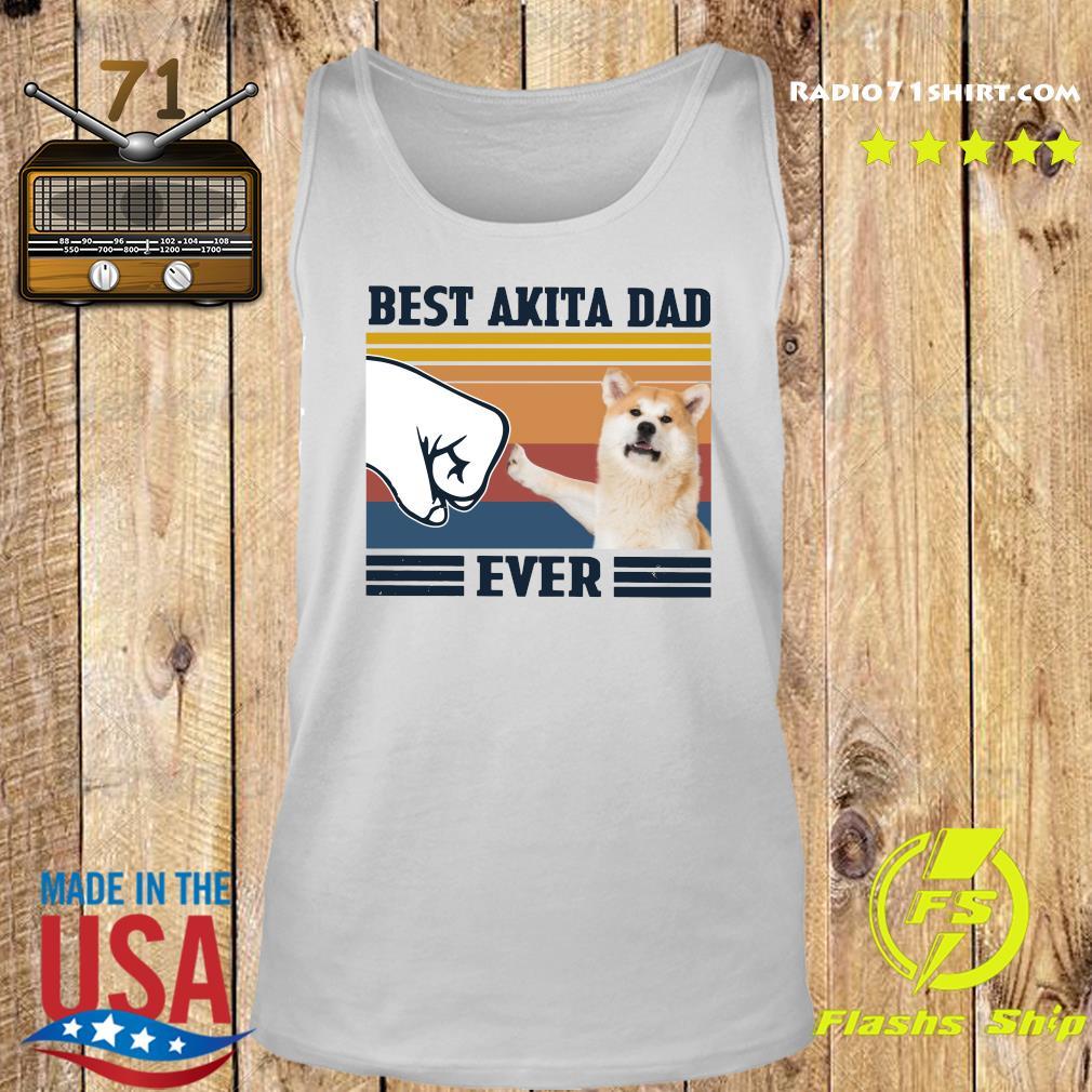 Best Akita Dad Ever Vintage Shirt Tank top