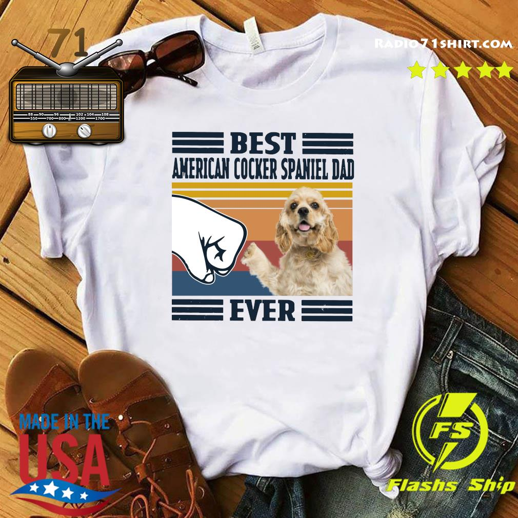 Best American Cocker Spaniel Dad Ever Vintage Shirt