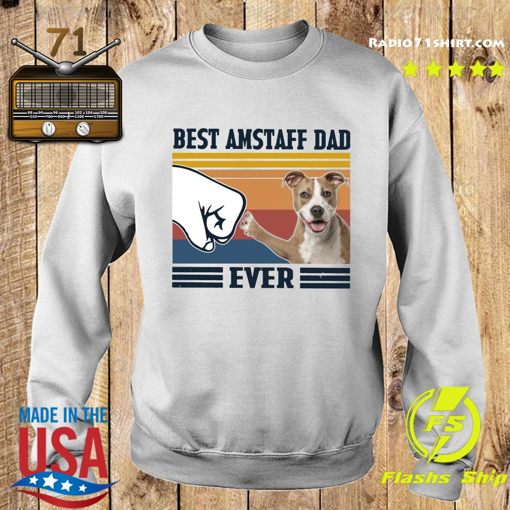 Best Amstaff Dad Ever Vintage Shirt Sweater