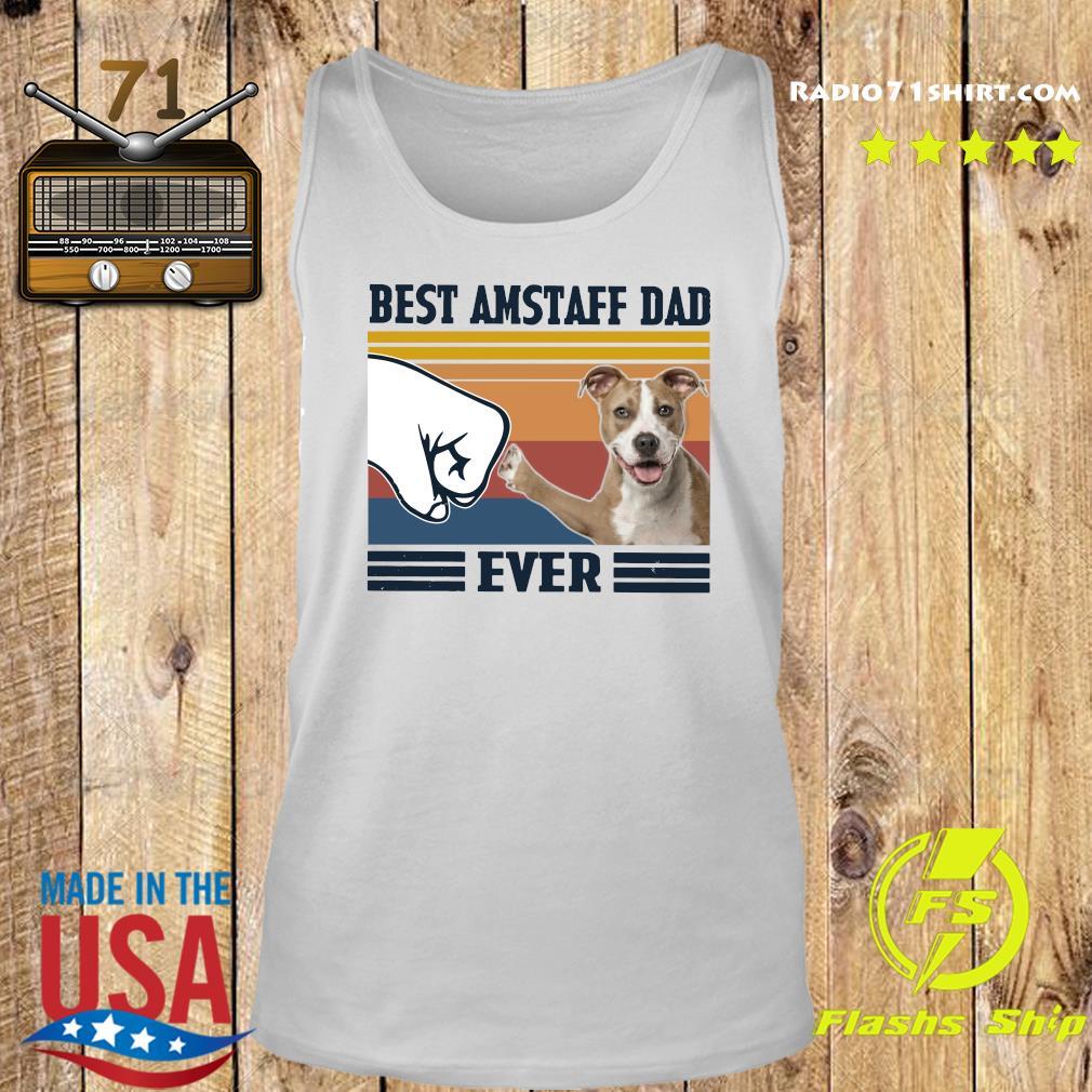 Best Amstaff Dad Ever Vintage Shirt Tank top