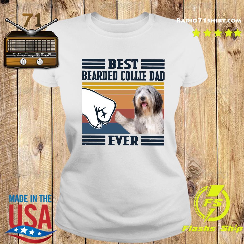 Best Bearded Collie Dad Ever Vintage Shirt Ladies tee