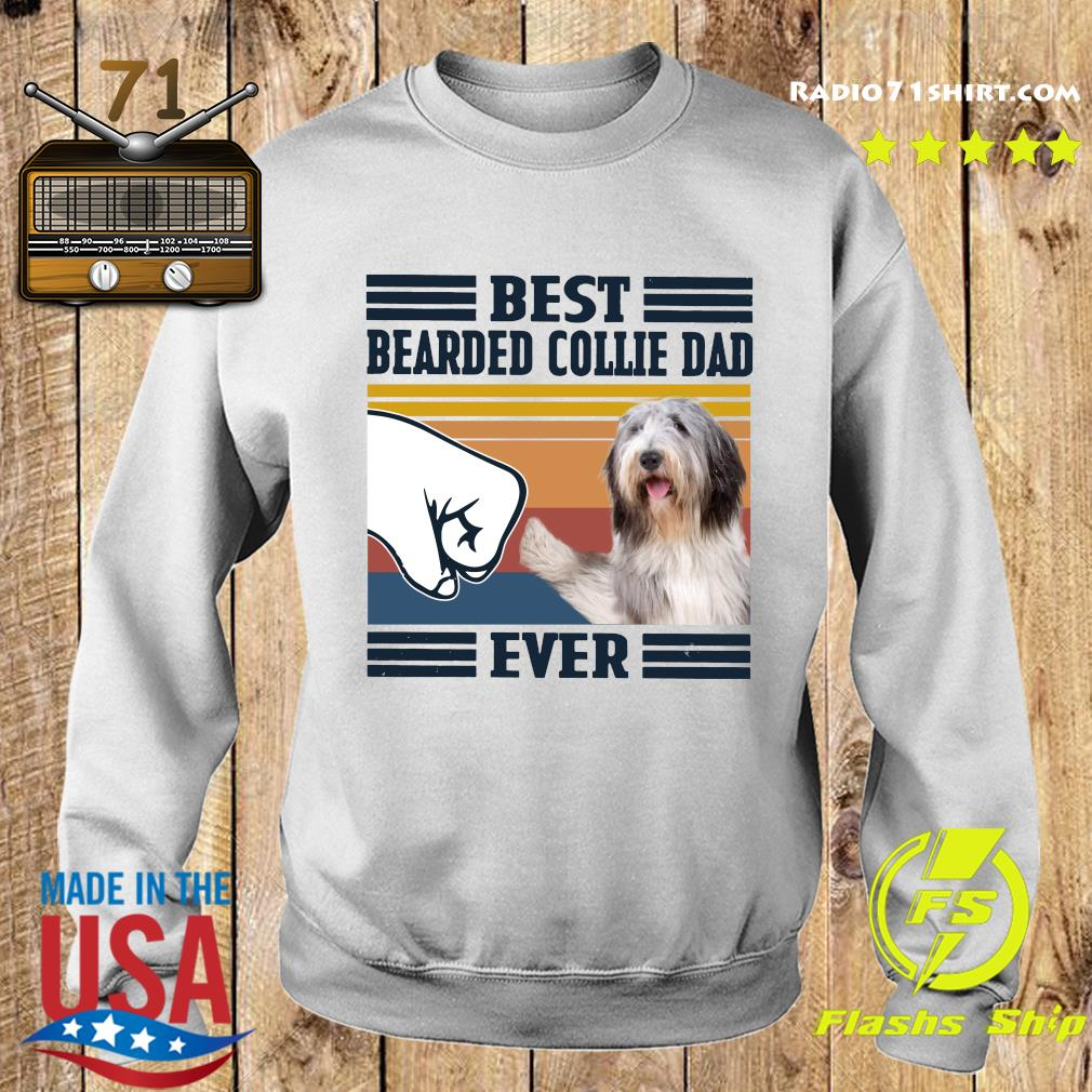 Best Bearded Collie Dad Ever Vintage Shirt Sweater