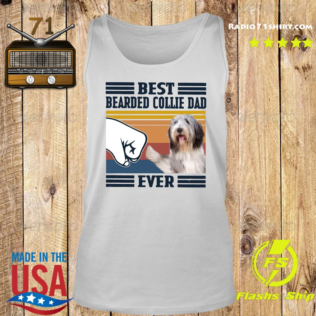Best Bearded Collie Dad Ever Vintage Shirt Tank top