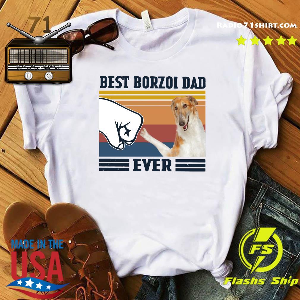 Best Borzoi Dad Ever Vintage Shirt